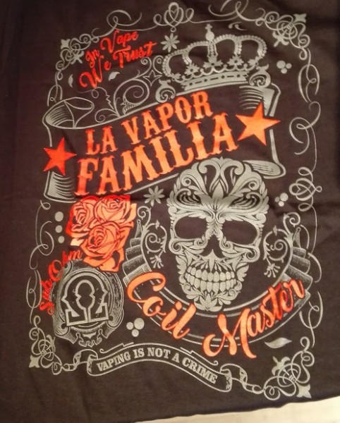 LA VAPOR FAMILIA T-Shirt grau/rot