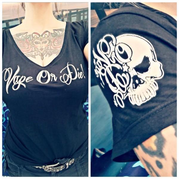 VAPE OR DIE Ladies Shirt black