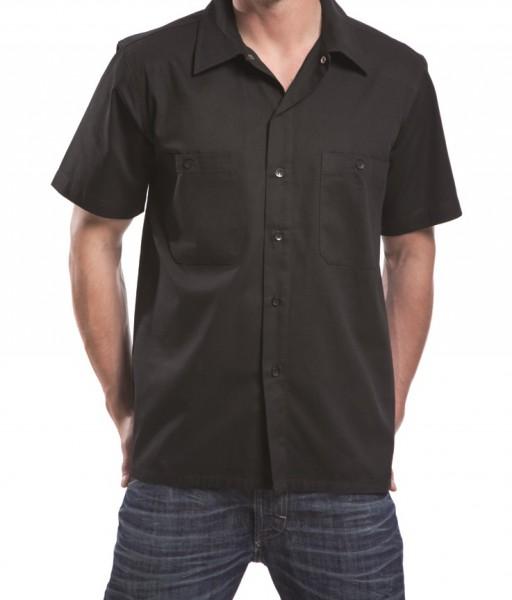 KABO Workershirt/Hemd (CLASSIC schwarz/rot/grau) ohne Brust