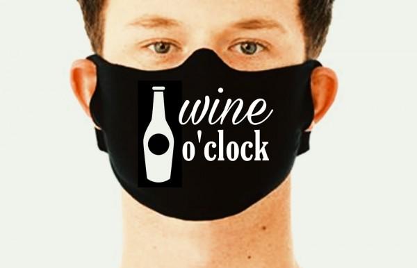 Behelfsmaske Maske WINE O'CLOCK