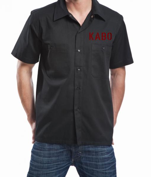 KABO Workershirt/Hemd (CLASSIC schwarz/rot/grau) Brust klein