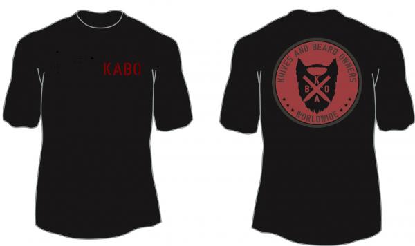 KABO T-Shirt (CLASSIC schwarz/rot/grau) Brust klein