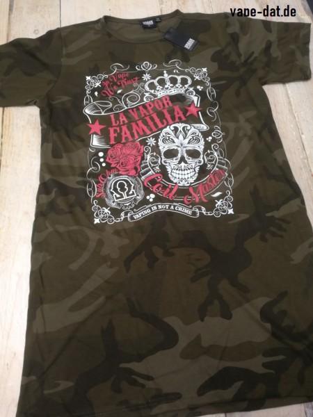 LA VAPOR FAMILIA Shirt-Kleid Camouflage weiß/pink
