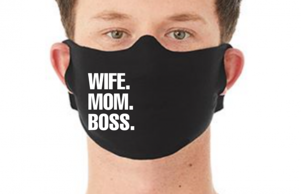 Behelfsmaske Maske WIFE MOM BOSS