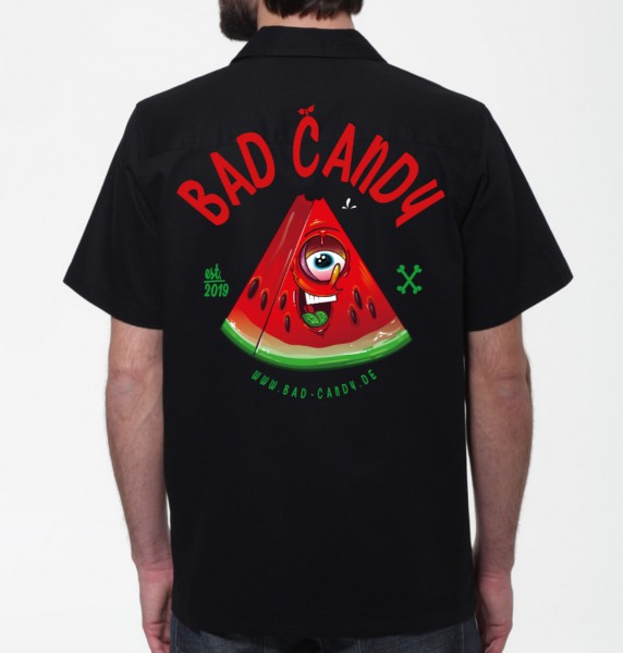 "BAD CANDY Workershirt/Hemd ""MELON"" black"