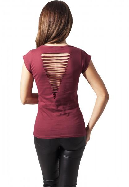 VAPE OR DIE Ladies Shirt burgundy cutted back