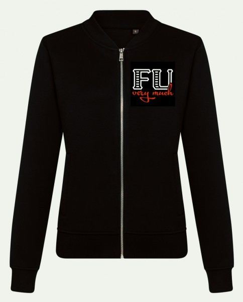 FU VERY MUCH Ladies Sweat Bomber Jacket