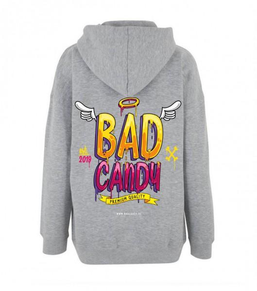 """BAD CANDY Premium Hoodie """"WINGS"""" gray"""