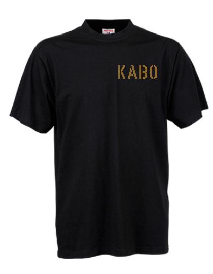 KABO T-Shirt (ERDIG) SCHWARZ Brust klein