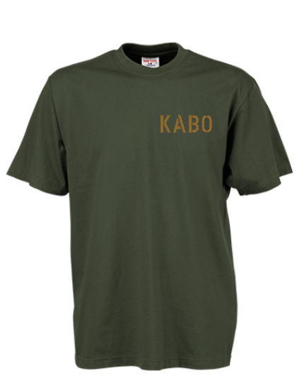 KABO T-Shirt (ERDIG) OLIV Brust klein