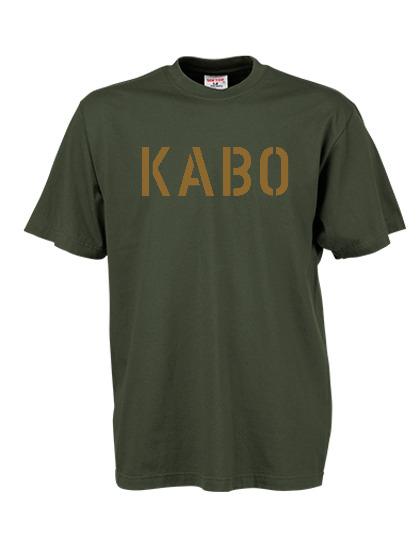 KABO T-Shirt (ERDIG) OLIV Brust GROSS