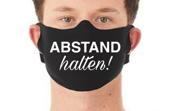 Behelfsmaske Maske ABSTAND HALTEN