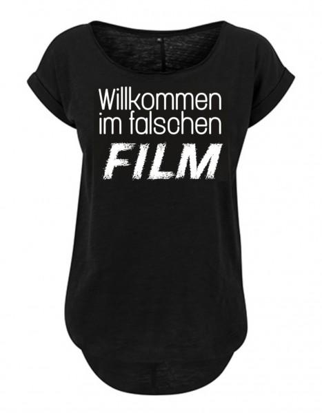 WILLKOMMEN IM FALSCHEN FILM Slub T-Shirt