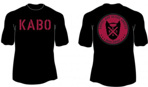 KABO T-Shirt (CLASSIC schwarz/rot/grau)