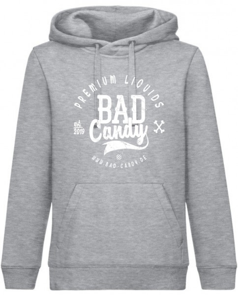 "BAD CANDY Premium Hoodie ""BC"" gray/white Front"