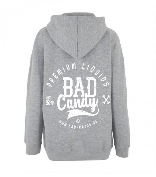 """BAD CANDY Premium Hoodie """"BC"""" gray/white"""